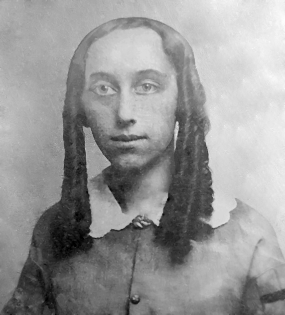 Lavinia Goodell as a girl.