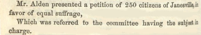 Assembly Journal entry re suffrage petition
