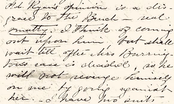 Lavinia's letter to her cousin, Sarah Thomas
