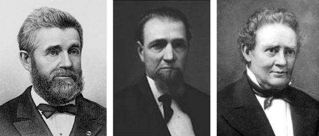 Photos of Justices William Lyon, Harlon Orton, and Edward Ryan