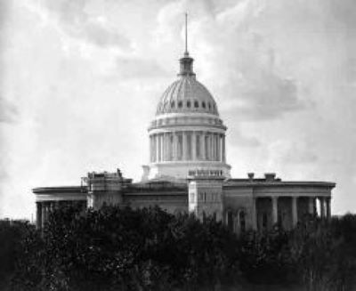 Image of Wisconsin's capitol in the 1870s