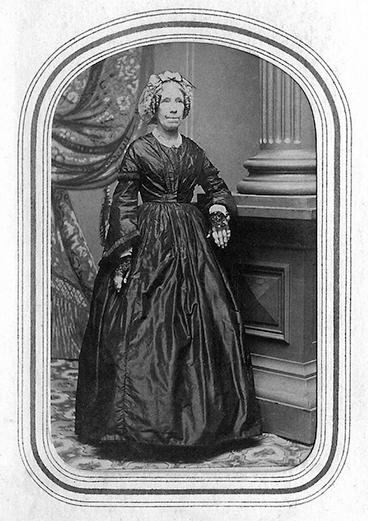 Photp of Clarissa Goodell, mother of Lavinia Goodell, wisconsin's 1st woman lawyer.